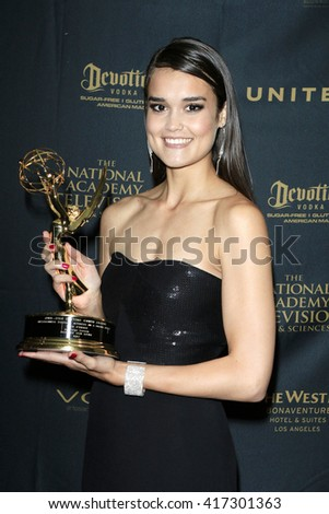 LOS ANGELES - May 1: True O'Brien at The 43rd Daytime Emmy Awards Gala at the Westin Bonaventure Hotel on May 1, 2016 in Los Angeles, California - stock photo