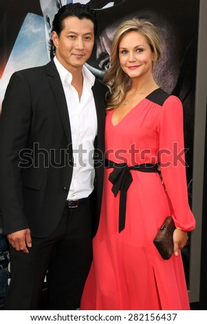 "LOS ANGELES - MAY 26:  Will Yun Lee, Jennifer Birmingham Lee at the ""San Andreas"" World Premiere at the TCL Chinese Theater IMAX on May 26, 2015 in Los Angeles, CA - stock photo"