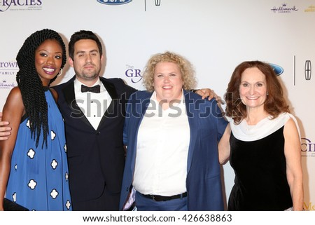 LOS ANGELES - MAY 24:  Xosha Roquemore, Ed Weeks, Fortune Feimster, Beth Grant at the 41st Annual Gracie Awards Gala at Beverly Wilshire Hotel on May 24, 2016 in Beverly Hills, CA - stock photo