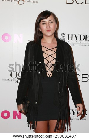 LOS ANGELES - MAY 7:  Zelda Williams at the NYLON Magazine Young Hollywood Issue Party  at the HYDE Sunset on May 7, 2015 in West Hollywood, CA - stock photo