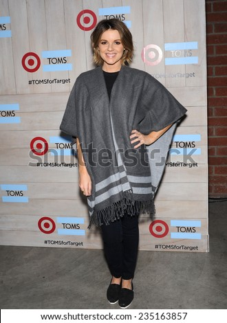 LOS ANGELES - NOV 12:  Ali Fedotowsky arrives to the TOMS for Target Partnership Celebration on November 12, 2014 in Culver City, CA                 - stock photo