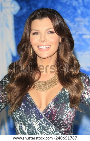 LOS ANGELES - NOV 19: Ali Landry at the premiere of Walt Disney Animation Studios' 'Frozen' at the El Capitan Theater on November 19, 2013 in Los Angeles, CA - stock photo