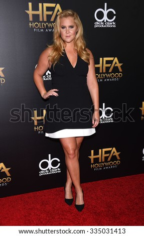 LOS ANGELES - NOV 1:  Amy Schumer arrives to the Hollywood Film Awards 2015 on November 1, 2015 in Hollywood, CA.                 - stock photo