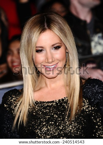"LOS ANGELES - NOV 11:  Ashley Tisdale arrives to the ""The Twilight Saga: Breaking Dawn-Part 2"" World Premiere  on November 11, 2012 in Los Angeles, CA                 - stock photo"