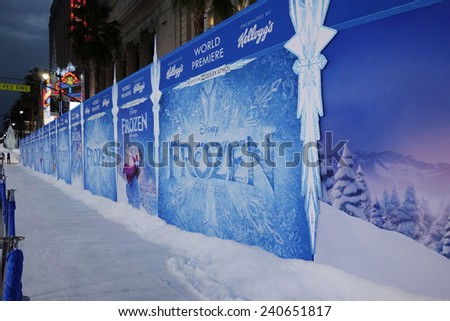 LOS ANGELES - NOV 19: Atmosphere at the premiere of Walt Disney Animation Studios' 'Frozen' at the El Capitan Theater on November 19, 2013 in Los Angeles, CA - stock photo