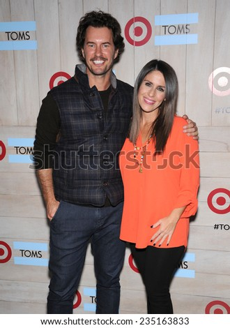 LOS ANGELES - NOV 12:  Blake Mycoskie & Soleil Moon Frye arrives to the TOMS for Target Partnership Celebration on November 12, 2014 in Culver City, CA                 - stock photo