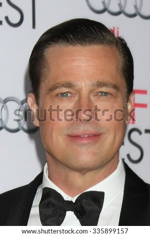 "LOS ANGELES - NOV 5:  Brad Pitt at the AFI FEST 2015 Presented By Audi Opening Night Gala Premiere of ""By The Sea"" at the TCL Chinese Theater on November 5, 2015 in Los Angeles, CA - stock photo"