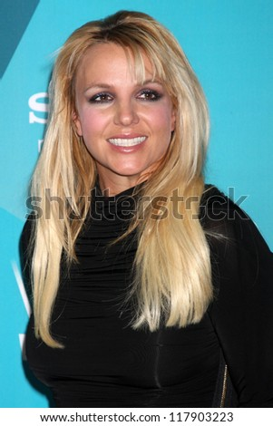 LOS ANGELES - NOV 5:  Britney Spears arrives at the X-Factor Season Two FInalist Party at SLS Hotel at Beverly Hills on November 5, 2012 in Los Angeles, CA - stock photo