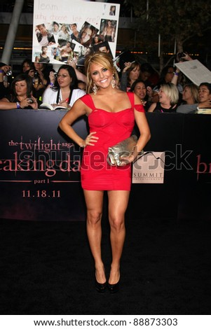"LOS ANGELES - NOV 14:  Cassie Scerbo arrives at the ""Twilight: Breaking Dawn Part 1"" World Premiere at Nokia Theater at LA LIve on November 14, 2011 in Los Angeles, CA - stock photo"