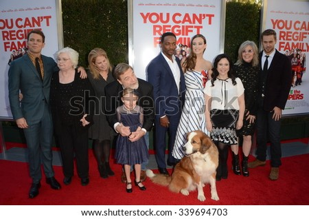"LOS ANGELES - NOV 12:  Cast of ""Love the Coopers"" at the ""Love the Coopers"" Los Angeles Premiere at the The Grove on November 12, 2015 in Los Angeles, CA - stock photo"