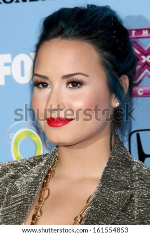 "LOS ANGELES - NOV 4:  Demi Lovato at the 2013 ""X Factor"" Top 12 Party  at SLS Hotel on November 4, 2013 in Beverly Hills, CA - stock photo"