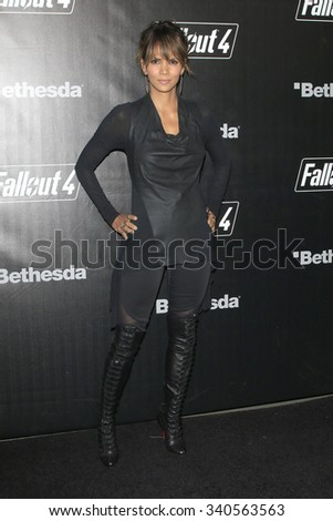 LOS ANGELES - NOV 05:  Halle Berry at the Fallout 4 video game launch  at the downtown on November 05, 2015 in Los Angeles, CA - stock photo