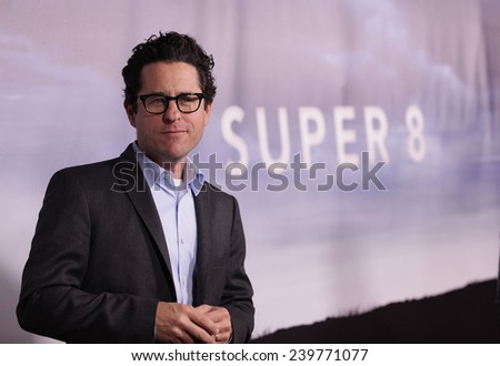 "LOS ANGELES - NOV 22:  J.J. ABRAMS arrives to the ""Super 8"" DVD Launch  on November 22, 2011 in Beverly Hills, CA                 - stock photo"