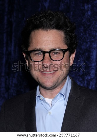 """LOS ANGELES - NOV 22:  J.J. ABRAMS arrives to the """"Super 8"""" DVD Launch  on November 22, 2011 in Beverly Hills, CA                 - stock photo"""
