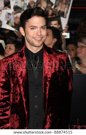 "LOS ANGELES - NOV 14:  Jackson Rathbone arrives at the ""Twilight: Breaking Dawn Part 1"" World Premiere at Nokia Theater at LA LIve on November 14, 2011 in Los Angeles, CA - stock photo"