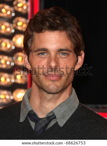 LOS ANGELES - NOV 15:  James Marsden arrives to the 'Burlesque' Los Angeles Premiere on November 15, 2010 in Hollywood, CA - stock photo