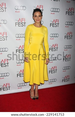 LOS ANGELES - NOV 7:  Jenny Slate at the AFI FEST 2014 Young Hollywood Roundtable at the TCL Chinese 6 Theaters on November 7, 2014 in Los Angeles, CA - stock photo