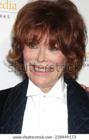 "LOS ANGELES - NOV 4:  Jill St. John at the Hallmark Channel's ""Northpole"" Screening Reception at the  La Piazza Restaurant  at The Grove on November 4, 2014 in Los Angeles, CA - stock photo"