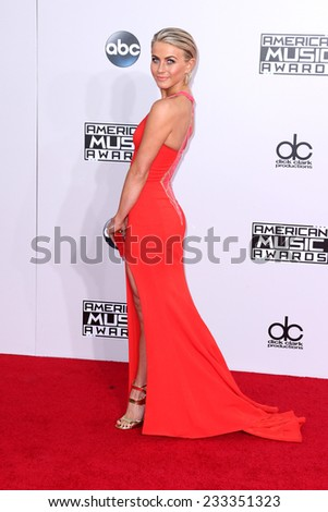 LOS ANGELES - NOV 23:  Julianne Hough at the 2014 American Music Awards - Arrivals at the Nokia Theater on November 23, 2014 in Los Angeles, CA - stock photo