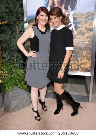"""LOS ANGELES - NOV 19:  Kate Flannery & Nia Vardalos arrives to the """"Wild"""" Los Angeles Premiere on November 19, 2014 in Beverly Hills, CA                 - stock photo"""