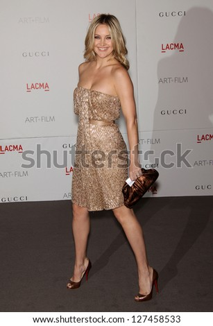LOS ANGELES - NOV 5:  KATE HUDSON arriving to LACMA hosts Art + Film Gala 2011  on November 5, 2011 in Los Angeles, CA - stock photo