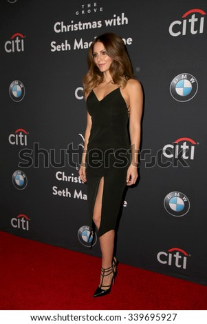 LOS ANGELES - NOV 14:  Katharine McPhee at the The Grove Christmas with Seth MacFarlane 2015 at the The Grove on November 14, 2015 in Los Angeles, CA - stock photo