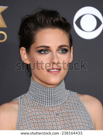 LOS ANGELES - NOV 14:  Kristen Stewart arrives to the The Hollywood Film Awards 2014 on November 14, 2014 in Hollywood, CA                 - stock photo