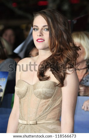 LOS ANGELES - NOV 12: Kristen Stewart at the premiere of 'The Twilight Saga: Breaking Dawn - Part 2' at Nokia Theater L.A. Live on November 12, 2012 in Los Angeles, California - stock photo