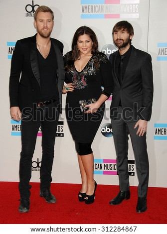 LOS ANGELES - NOV 24:  Lady Antebellum, Hillary Scott arrives at the 2013 American Music Awards Arrivals  on November 24, 2013 in Los Angeles, CA                 - stock photo