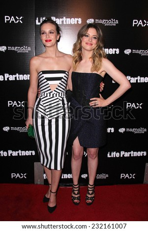 "LOS ANGELES - NOV 18:  Leighton Meester, Gillian Jacobs at the ""Life Partners"" Los Angeles Special Screening at the ArcLight Hollywood Theaters on November 18, 2014 in Los Angeles, CA - stock photo"
