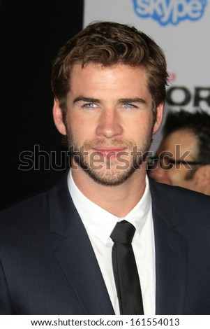 LOS ANGELES - NOV 4:  Liam Hemsworth at the Thor: The Dark World' Premiere at El Capitan Theater on November 4, 2013 in Los Angeles, CA - stock photo