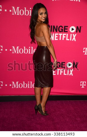 LOS ANGELES - NOV 10:  Lisa Ramos at the T-Mobile Un-carrier X Launch Celebration at the Shrine Auditorium on November 10, 2015 in Los Angeles, CA - stock photo
