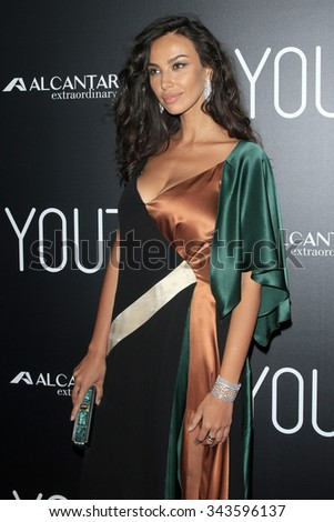 """LOS ANGELES - NOV 17:  Madalina Diana Ghenea at the """"Youth"""" LA Premiere at the Directors Guild of America on November 17, 2015 in Los Angeles, CA - stock photo"""