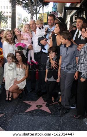 LOS ANGELES - NOV 8:  Mariska Hargitay, extended family at the Mariska Hargitay Hollywood Walk of Fame Star Ceremony at Hollywood Blvd on November 8, 2013 in Los Angeles, CA\ - stock photo