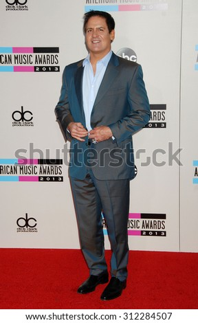 LOS ANGELES - NOV 24:  Mark Cuban arrives at the 2013 American Music Awards Arrivals  on November 24, 2013 in Los Angeles, CA                 - stock photo