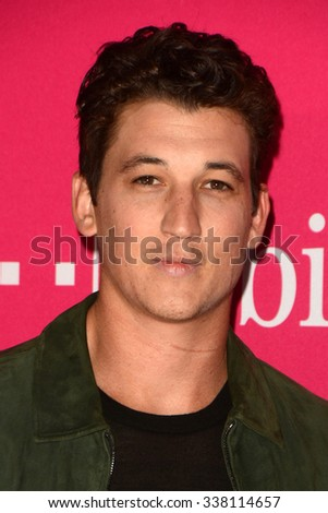 LOS ANGELES - NOV 10:  Miles Teller at the T-Mobile Un-carrier X Launch Celebration at the Shrine Auditorium on November 10, 2015 in Los Angeles, CA - stock photo