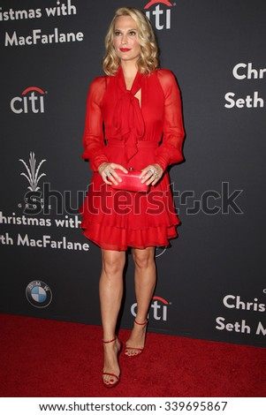 LOS ANGELES - NOV 14:  Molly Sims at the The Grove Christmas with Seth MacFarlane 2015 at the The Grove on November 14, 2015 in Los Angeles, CA - stock photo