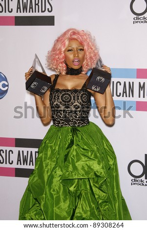 LOS ANGELES - NOV 20: Nicki Minaj at the 2011 American Music Awards Press Room held at Nokia Theatre L.A. Live on November 20, 2011 in Los Angeles, California - stock photo