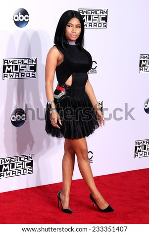 LOS ANGELES - NOV 23:  Nicky Minaj at the 2014 American Music Awards - Arrivals at the Nokia Theater on November 23, 2014 in Los Angeles, CA - stock photo