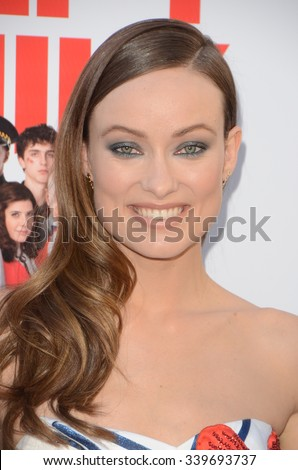 """LOS ANGELES - NOV 12:  Olivia Wilde at the """"Love the Coopers"""" Los Angeles Premiere at the The Grove on November 12, 2015 in Los Angeles, CA - stock photo"""