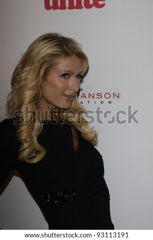 LOS ANGELES - NOV 16: Paris Hilton at the 5th annual 'Rock the Kasbah' in support of Virgin Unite and the Eve Branson Foundation on November 16, 2011 in Los Angeles, California - stock photo