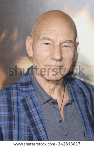"LOS ANGELES - NOV 21:  Patrick Stewart at the ""The Danish Girl"" Premiere at the Village Theater on November 21, 2015 in Westwood, CA - stock photo"