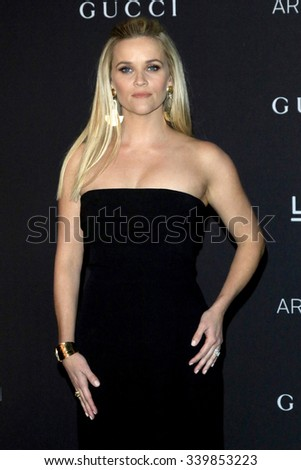 LOS ANGELES - NOV 7:  Reese Witherspoon at the LACMA Art + Film Gala at the  LACMA on November 7, 2015 in Los Angeles, CA - stock photo