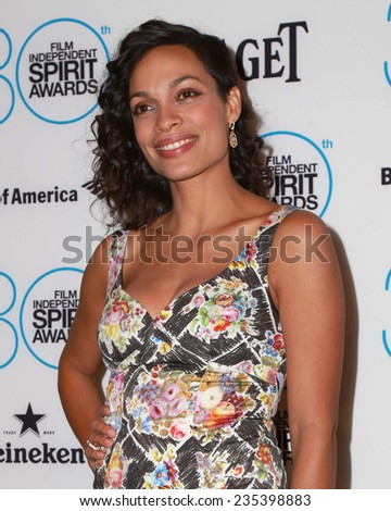 LOS ANGELES - NOV 25:  Rosario Dawson at the Film Independent Spirit Award Nominations at the W Hotel Hollywood on November 25, 2014 in Los Angeles, CA - stock photo