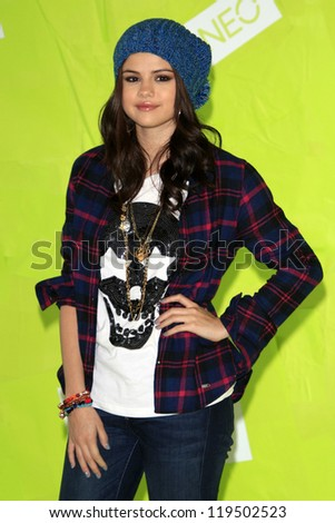 LOS ANGELES - NOV 20:  Selena Gomez at the Adidas NEO news conference where Selena Gomez is signed on as the new style icon and designer at Private Location on November 20, 2012 in Los Angeles, CA - stock photo