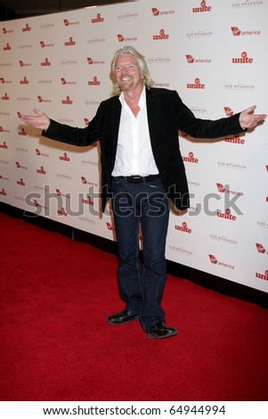 LOS ANGELES - NOV 10:  Sir Richard Branson arrives at the Rock the Kabash Gala 2010 at Dorothy Chandler Pavilion  on November 10, 2010 in Los Angeles, CA - stock photo