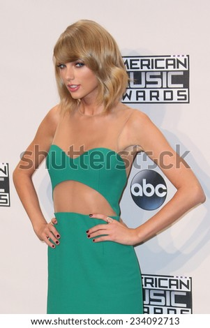 LOS ANGELES - NOV 23:  Taylor Swift at the 2014 American Music Awards - Press Room at the Nokia Theater on November 23, 2014 in Los Angeles, CA - stock photo