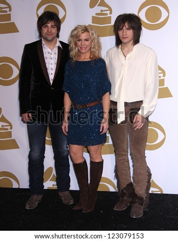 LOS ANGELES - NOV 30:  THE BAND PERRY arrives to the Grammy Nominations Concert Live 2011  on November 30, 2011 in Los Angeles, CA - stock photo