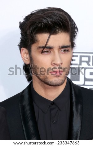 LOS ANGELES - NOV 23:  Zayn Malik at the 2014 American Music Awards - Arrivals at the Nokia Theater on November 23, 2014 in Los Angeles, CA - stock photo