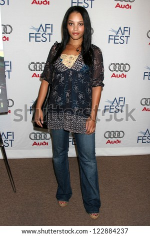"""LOS ANGELES - NOVEMBER 04: Bianca Lawson at the AFI Fest 2006 Screening of """"Broken"""" presented by Audi at AFI Fest Village The Loft Arclight Hollywood on November 04, 2006 in Hollywood, CA. - stock photo"""